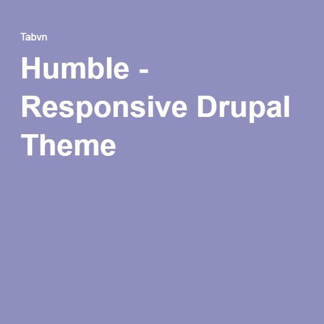 Humble - Responsive Drupal Theme