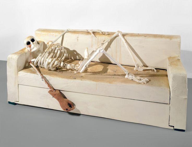 Undigested Sunset, Urs Fischer, 2001-2002, Collectie Bert Kreuk - SKELETON. The body's armature in contemporary sculpture in museum Beelden aan Zee - 30 October 2015   7 February 2016