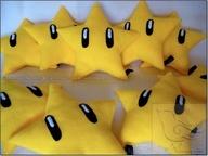 Mario Super Star bean bag idea.