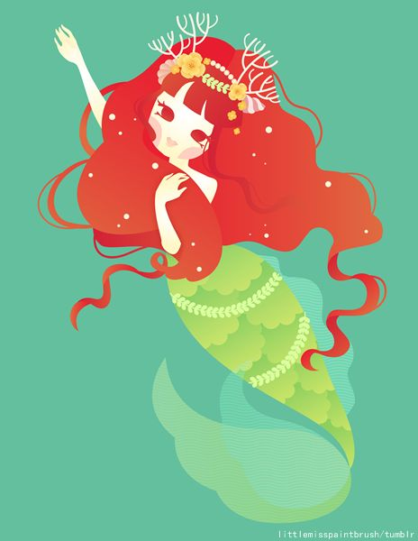 Er.. This one isnt a Grimms fairytale (its from Hans Christian Andersen), but I wanted to draw her so much! :3 This is the The Little Mermaid. :D