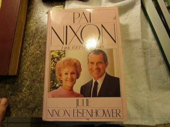 For your consideration is this SIGNED 1986 hardcover of PAT NIXON, THE UNTOLD STORY by her daughter, Julie Nixon Eisenhower, published by Simon & Schuster. The book has 480 clean pages, shows some wear and is in Very Good condition. It is pen signed on official Richard Nixon Library bookplate by Julie Nixon Eisenhower affixed to front page.  Julie Nixon Eisenhower (b. 1948) is the daughter of Richard M. Nixon, 37th President of the United States, and Pat Nixon, former First Lady of the…