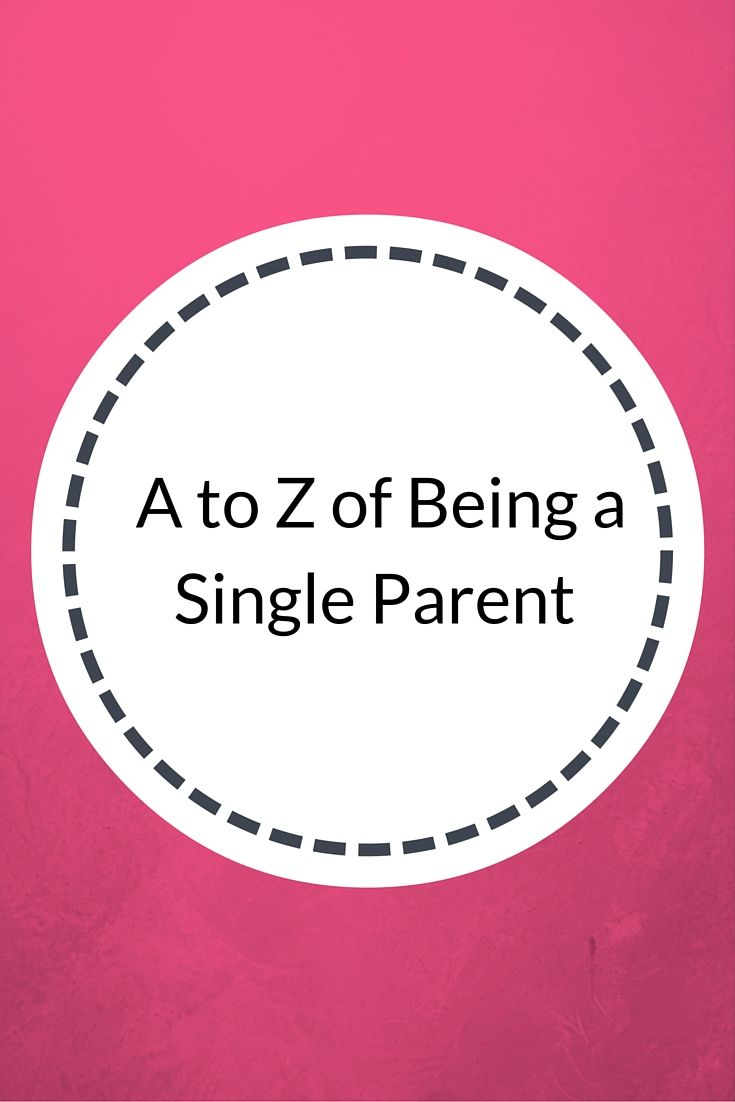 My A to Z of Being a Single Parent http://www.confessionsofasinglemum.co.uk/my-a-to-z-of-being-a-single-parent/