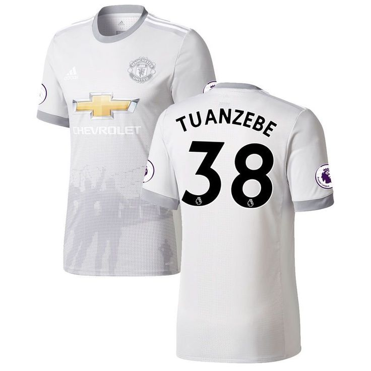 Axel Tuanzebe Manchester United adidas 2017/18 Third Authentic Patch Jersey - Gray