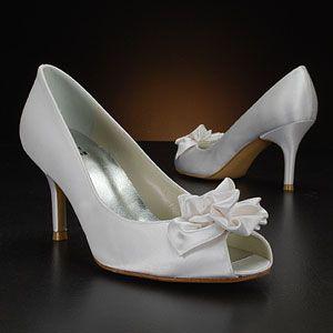 stuart weitzman marimbow white & ivory  Wedding Shoes