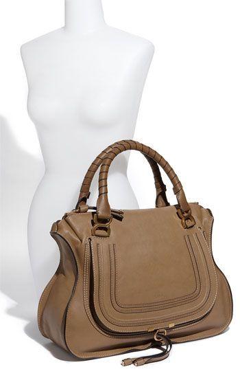 Chloe \u0026#39;Marcie - Large\u0026#39; Leather Satchel | Leather Shoulder Bags ...