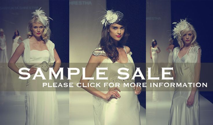 Mega Sample Sale of Luxury Designer Wedding Dresses in London