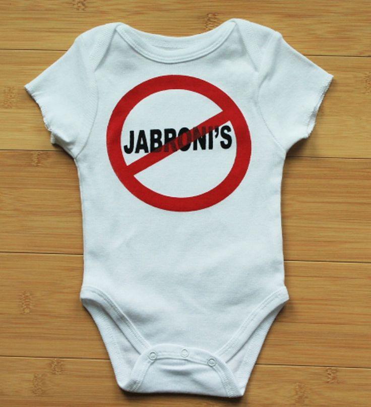 """""""No Jibronis"""" Bodysuit for little wrestling fans."""