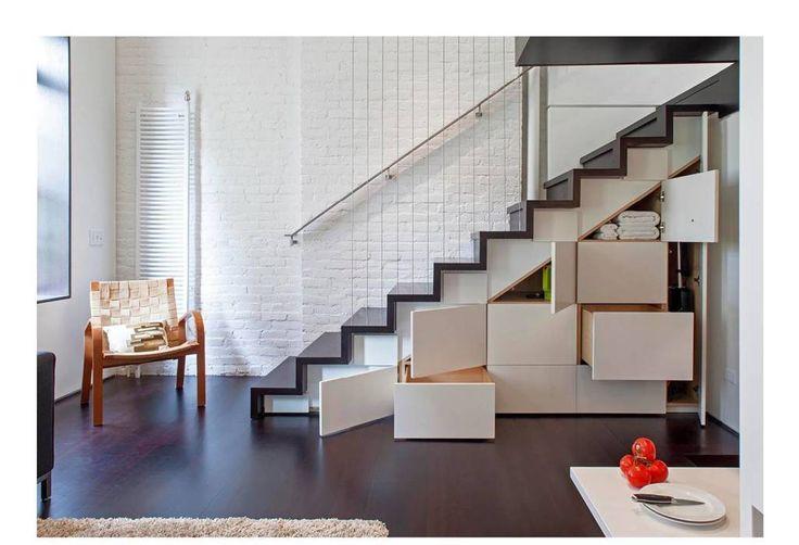 Манхэттен микро-Лофт: современный коридора, прихожей и лестницы на Шпехта архитекторов
