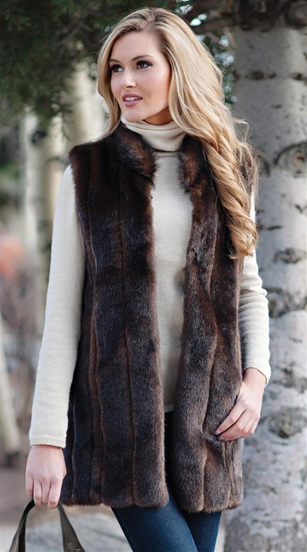 SABLE VEST - Faux Fur Mink Vest