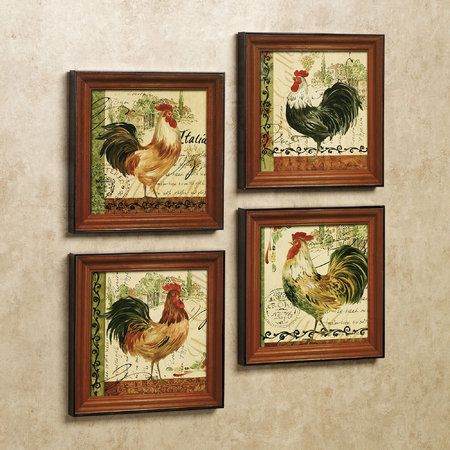 55 best images about rooster theme decor on pinterest - Rooster wall decor kitchen ...