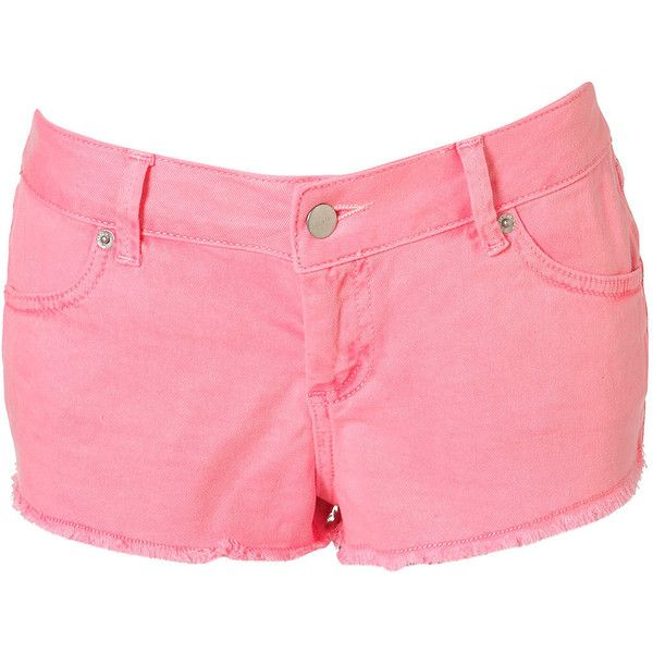 MOTO Neon Pink Cut Off Hotpants (323.450 VND) ❤ liked on Polyvore featuring shorts, bottoms, short, topshop, pants, fluro pink, hot pink shorts, pink short shorts, hot pink pants and cut-off shorts