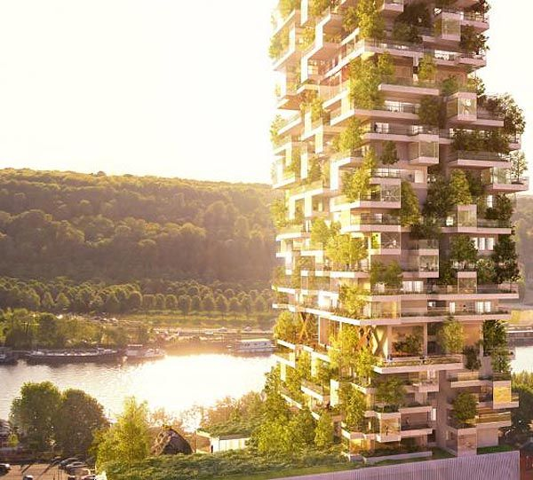 Reimagining The High-Rise: Green Building, Paris, Real Life, Futuristic Architecture, Green Architecture, Under Construction, Modern Architecture, Mornings Coff, Design Concept