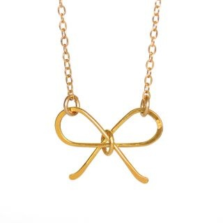 Tie Me in a Bow in 18k Gold Vermeil Necklace