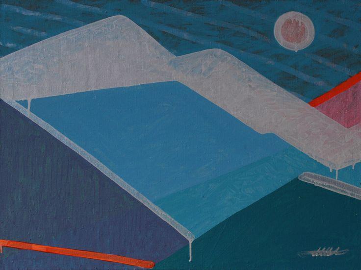 KORZH Taras, COLD SUNRISE IN KARPATY MOUNTAINS, 2015, Acrylic on canvas, 100 x 75