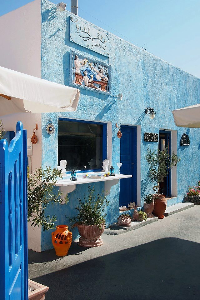 Blue Sky Restaurant, Santorini , Greece