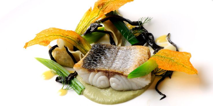 Sea bass is served with fennel purée and prawn tortellini in this sea bass recipe from Simon Hulstone. The prawn tortellini recipe can be used for many other dishes