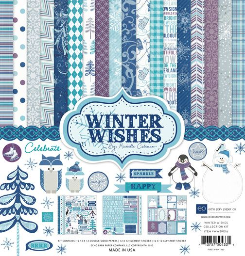 New Winter Paper Collection by Echo Park Paper Co.