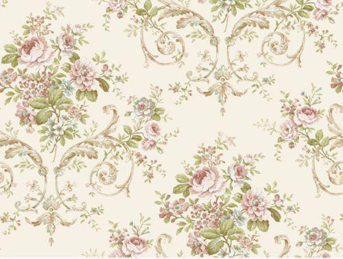 Feminine Classic Rose Floral Wallpaper Pn0401 Double Roll