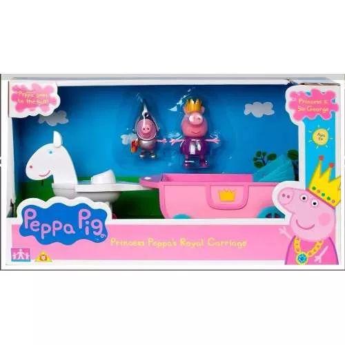 Peppa Pig Princess Carruaje Real C/figuras - $ 1.299,99