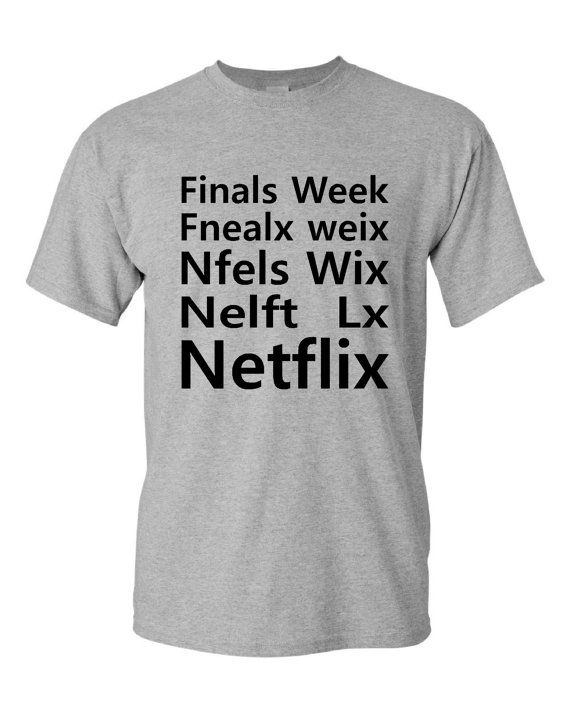 Finals Week Netflix Funny Marathon T Shirt by HarplynDesigns