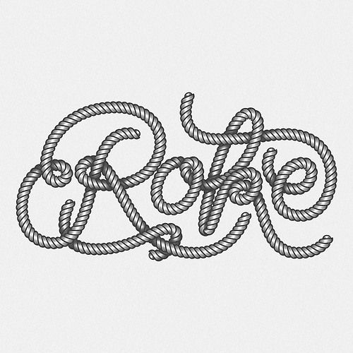 Typeverything.com Rope type by Wete.