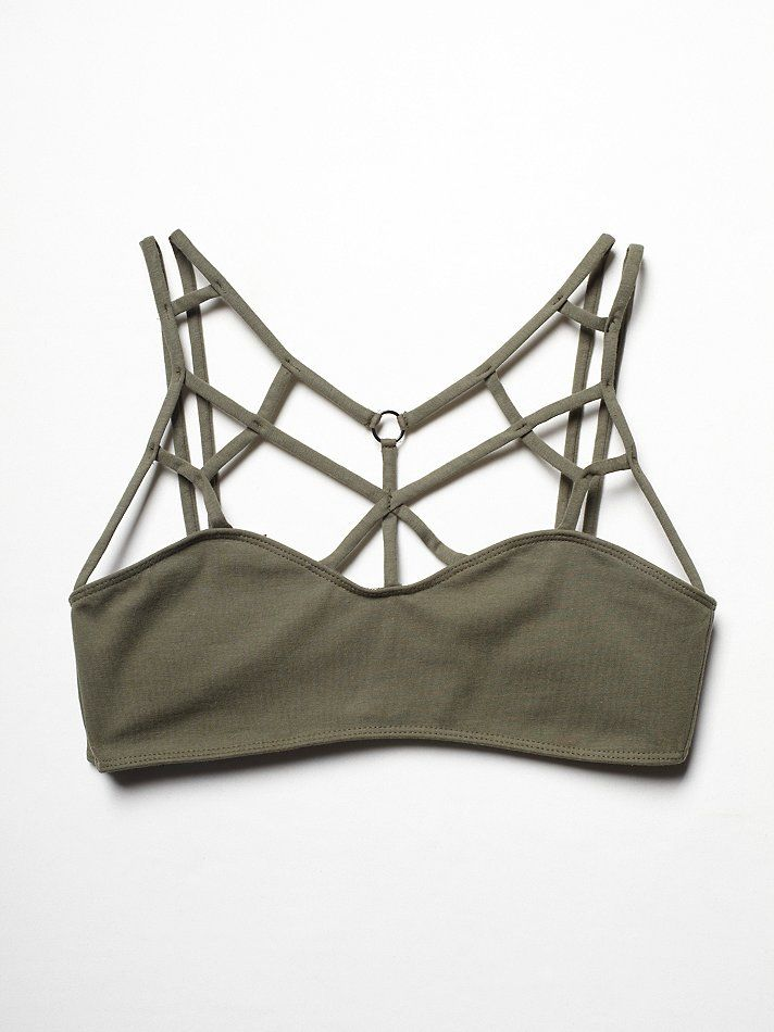 Free People Strappy Front Bra, $58.00   fuck yes in black
