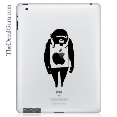 Find the Banksy Monkey iPad decal at the Decal Guru online store.