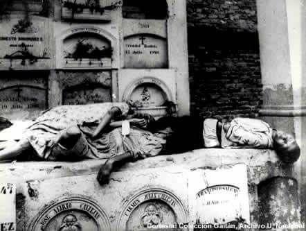 Galerias del cementerio central 10 de abril