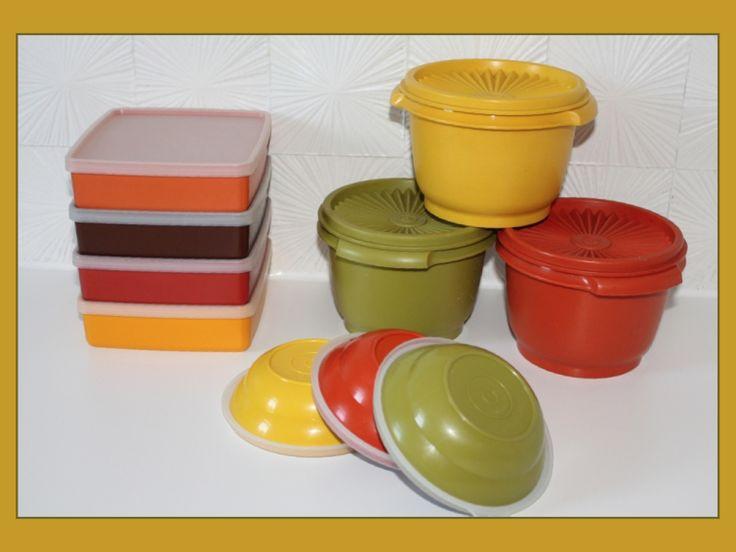 Boîtes Tupperware des années 70