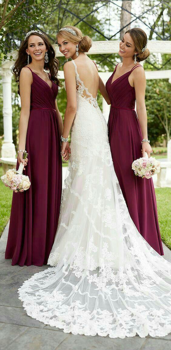 12 mejores imágenes de Boda color *SANGRÍA* en Pinterest   Vestidos ...