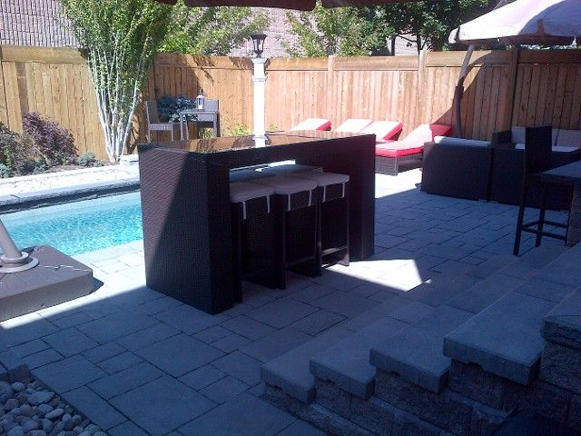 backyard oasis pool and thornbury interlock