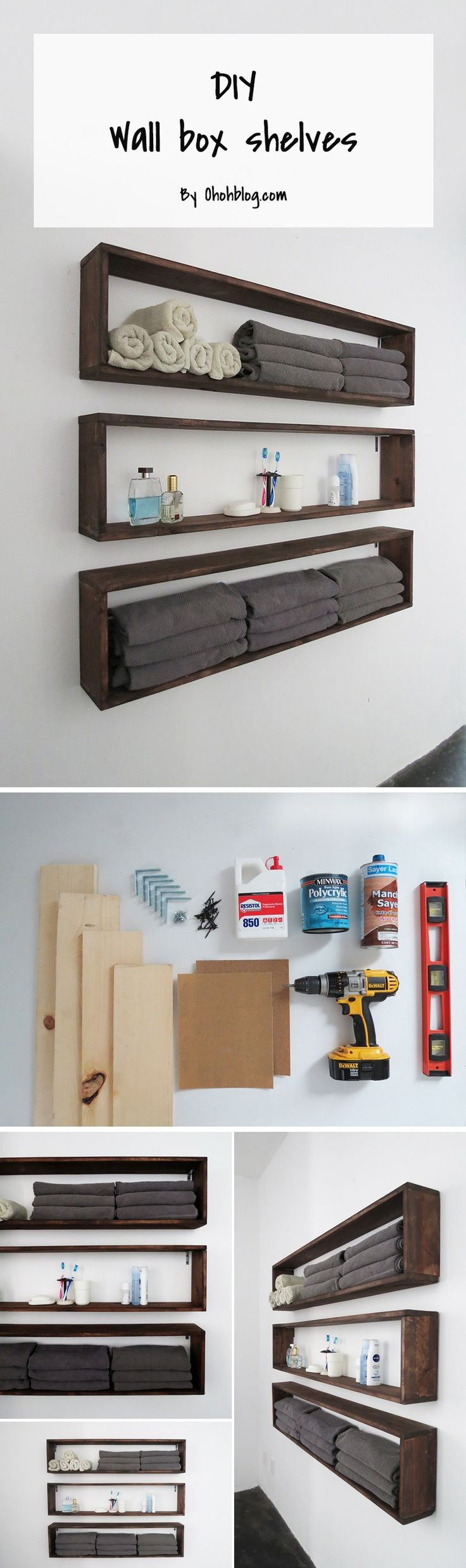 DIY Wall Box Shelves