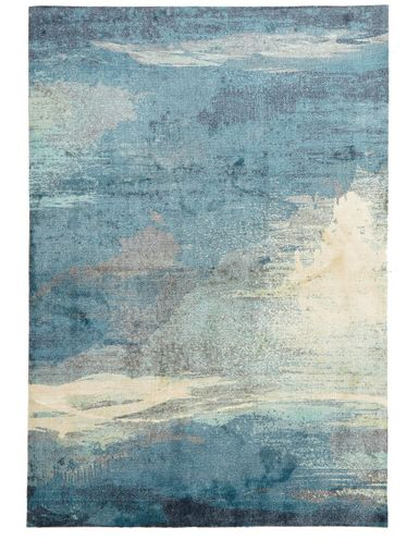 temple & webster  Abstract Monet Rug Synthetics Blue 320cm L x 230cm W