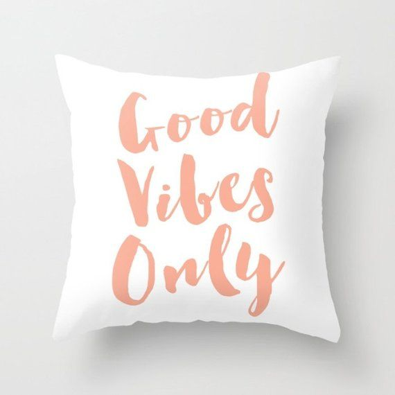 Throw Pillow Cover Lettering Pink Good