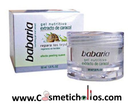 Este Gel facial que utiliza Extracto de Baba de Caracol por su composición rica en Alantoína, ácido Glicólico, Colágeno, Elastina, y vitaminas A, C y E, que repara los tejidos y hace efecto peeling suave.