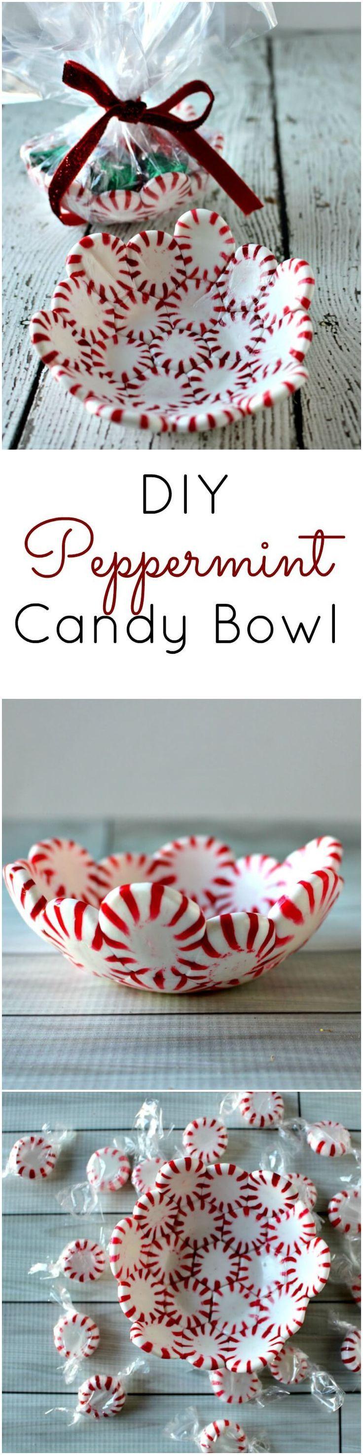 diy peppermint candy bowl