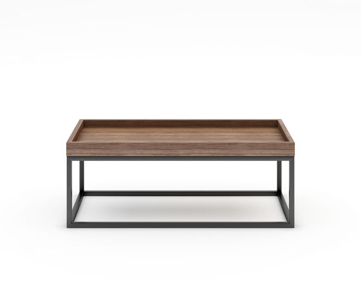 Lasse is crafted with a classic industrial frame and polished artisan veneer top. The inverted box is uniquely designed to discourage loose items from falling away. Versatile for the living room or bedroom, this functional piece is also perfect for the end of the bed or against walls for creative