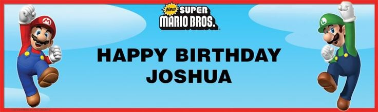 Super Mario Bros. Personalized Birthday Banner