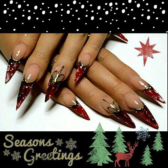 My #christmas nails!!!  I love them so much #christmasnails #christmasstilettos #kerst #kerstnagels #kerststilettos #stilettos #stilletonails #nagels #nails #nailfetish #realstilletonails #rednails #red #rood #catnails #bitchy #bitchery #point #onpoint #nailart #longnails #redblack #snowman #christmasballs #kerstballen #sneeuwpop #MagnificentNails #Arnhem #weihnachten