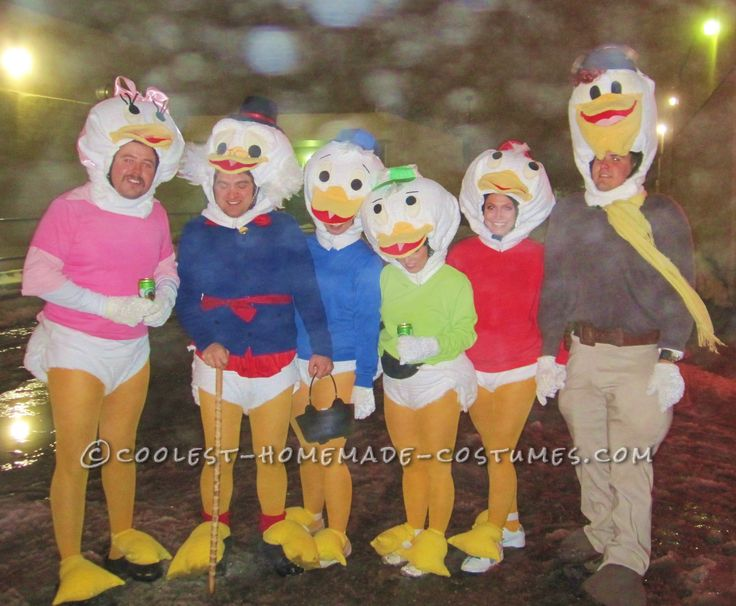 Coolest Homemade Disney Duck Family Halloween Group Costume... This website is the Pinterest of costumes