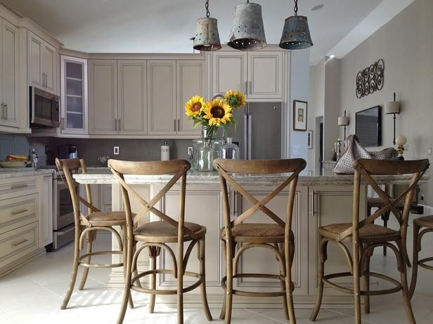 I like the color in this kitchen.  - Kitchen Cabinet Color Options: Ideas From Top Designers on HGTV