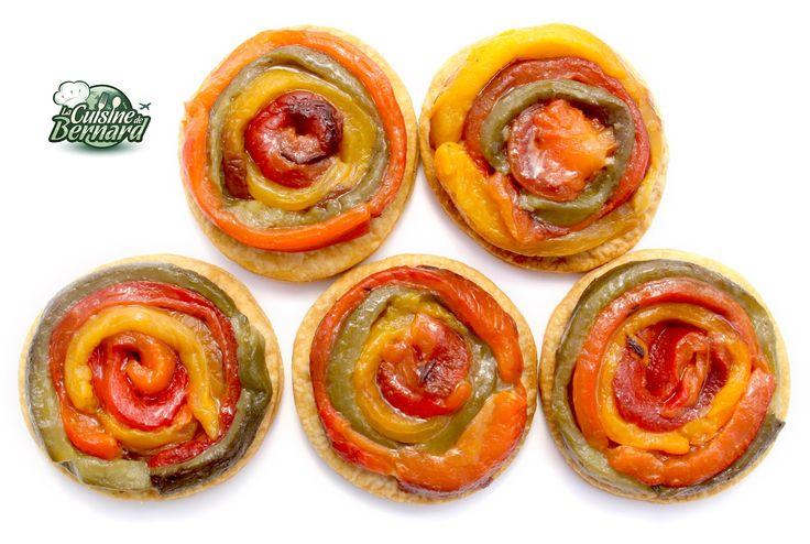 Modifier la description     Mini tartes tatin de poivrons grillés