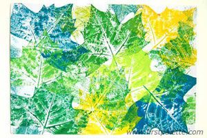 """leaf prints fall activity (interesting in colors OTHER than """"typical"""" Fall)"""