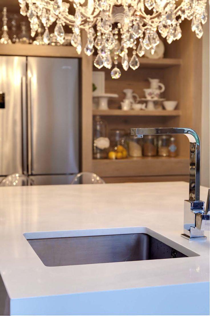 Underslung sinks ensure that your Caesarstone surfaces get maximum exposure! www.caesarstone.co.za
