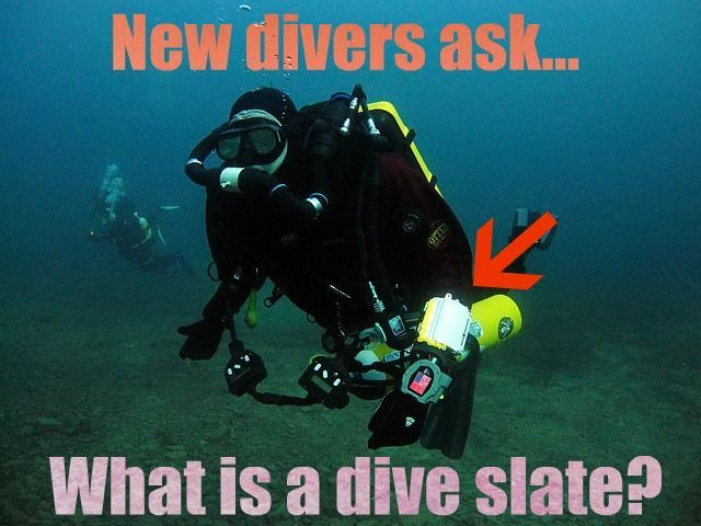 What is a dive slate? by aquaviews.net
