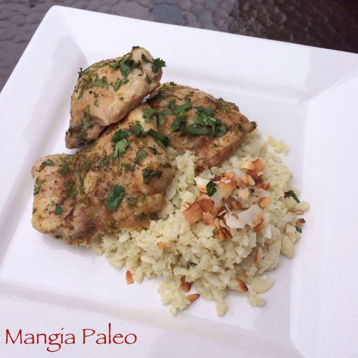 Paleo Cilantro Chicken and Rice