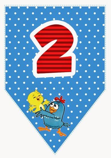 Alfabeto da galinha pintadinha para imprimir bandeirinhas - Alfabetos Lindos