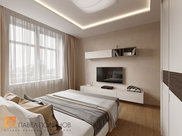 Фото: Дизайн спальни - Интерьер дома в современном стиле, коттеджный поселок «Небо», 272 кв.м.