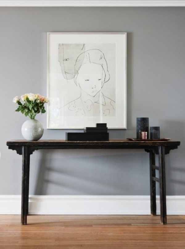 """Pavilion Gray (#242) Farrow and Ball » Farrow and Ball refers to this gray as an """"elegant color used in Sweden in the late 18th century under Gustav III."""" Fancy."""
