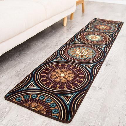 Ethnic Style Nylon Carpet, Floor Carpet and Rugs, Bedroom Bedside Strip, Door Mat